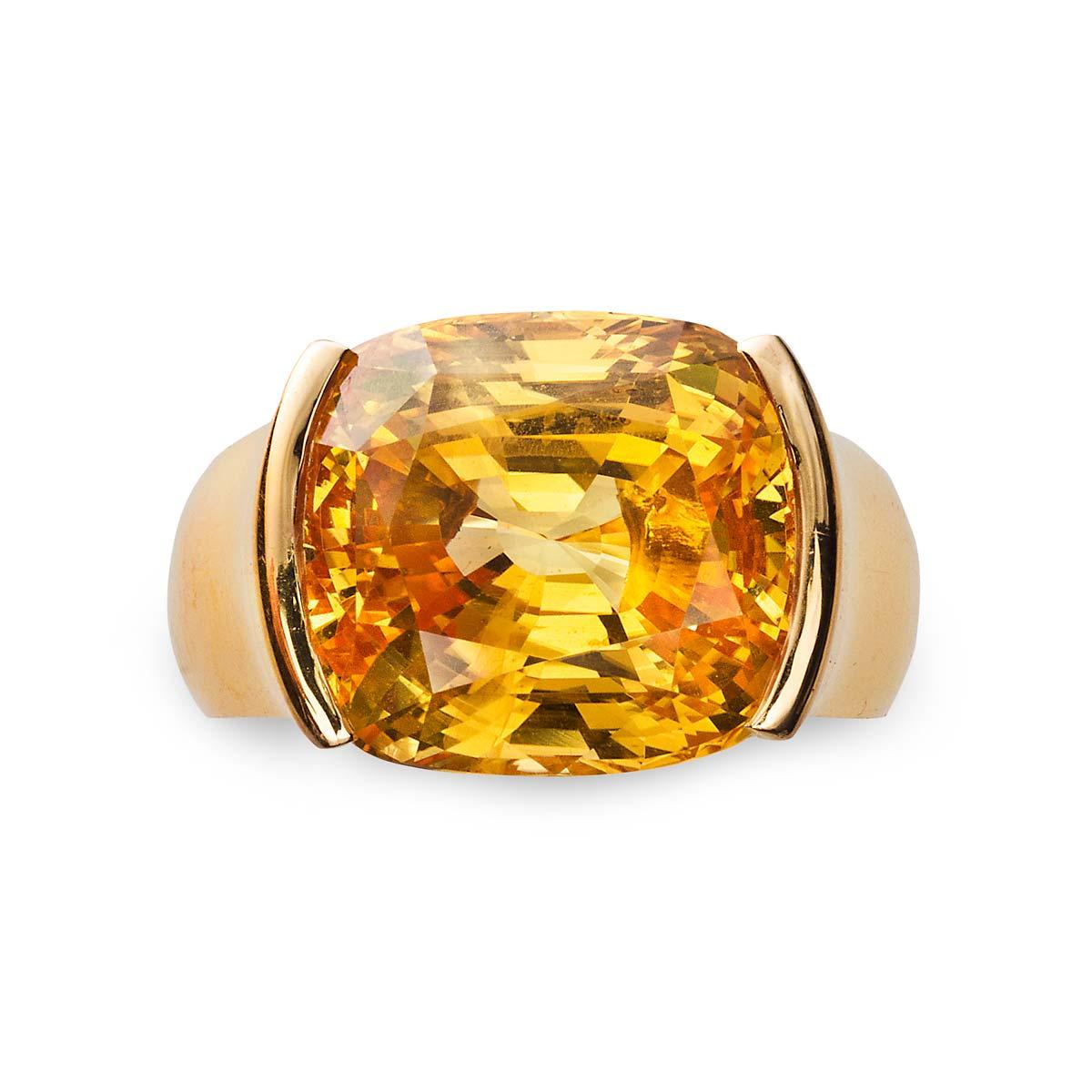 cartier yellow sapphire ring jerry blickman